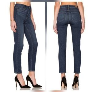 NWT Paige Hoxton Crop Rollup High Rise Skinny Jean